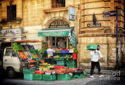 Valletta Photograph - Valletta City Fruit And Vegetables In Malta by Stephan Grixti