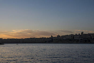 Photograph - Valletta Malta Magic Hour Skyline by Georgia Mizuleva