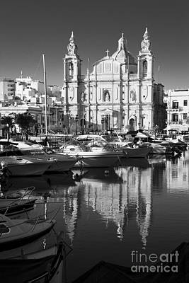 Maltese Photograph - Valletta Marina Reflections  by Rob Hawkins