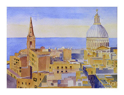 Painting - Valletta Roof Tops by Godwin Cassar