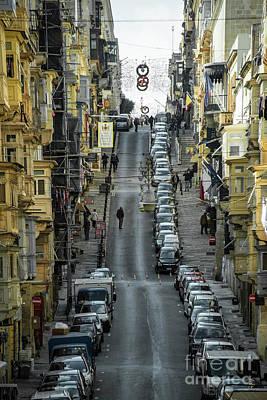 Maltese Photograph - Valletta Steep  by Rob Hawkins