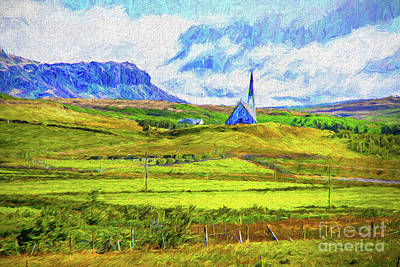 Digital Art - Valley Church by Rick Bragan