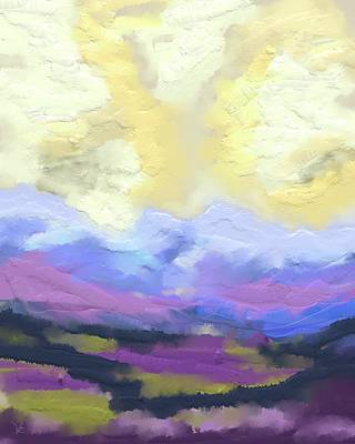 Digital Art - Valley Edge by Victor Shelley