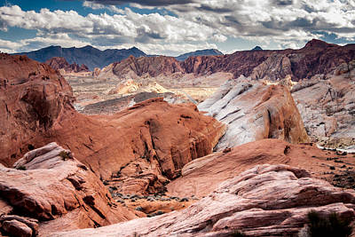 Valley Of Fire Expanse Art Print