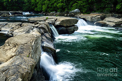 Using The River Photograph - Valley Falls Waterfall by Thomas R Fletcher