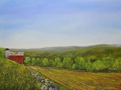 Valley Farm Art Print by Ken Ahlering