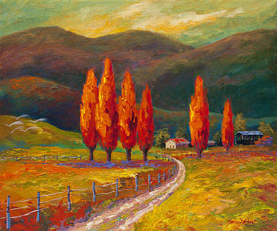 Valley Farm Art Print by Marion Rose