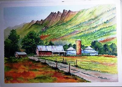 Painting - Valley Farm Scene by Richard Benson