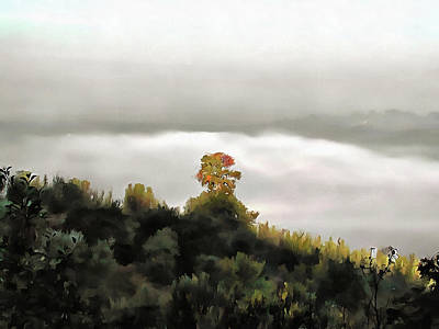 Photograph - Valley Fog In Umbria 2 by Dorothy Berry-Lound