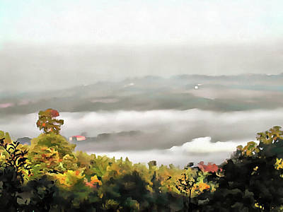 Photograph - Valley Fog In Umbria by Dorothy Berry-Lound