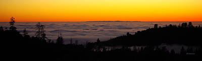 Photograph - Valley Fog Twilight by Kevin Bohner