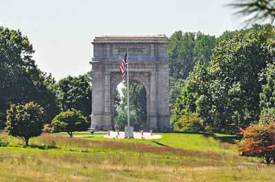 Valley Forge Arch In Summer Art Print by Bill Cannon