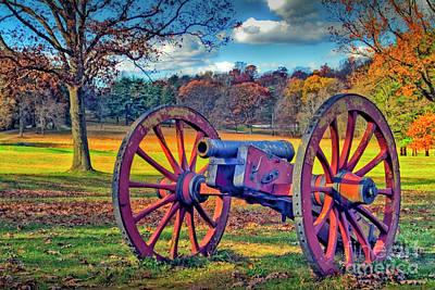 Photograph - Valley Forge Artillery Canon by David Zanzinger