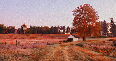 Philadelphia Scene Digital Art - Valley Forge Autumn Morning by Bill Cannon