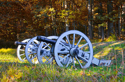 Valley Forge Cannons In Autumn Print by Bill Cannon