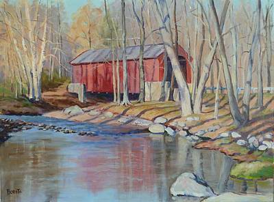 Painting - Valley Forge Covered Bridge by Bonita Waitl