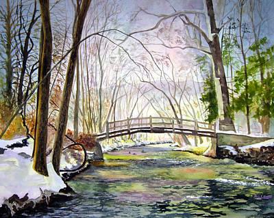 Valley Forge Footbridge Art Print by Paul Temple