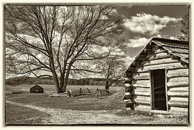 Valley Forge Military Cabin Art Print by David Zanzinger