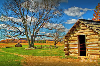 Photograph - Valley Forge Military Emcampment by David Zanzinger