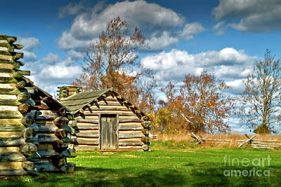 Photograph - Valley Forge Military Log Cabin by David Zanzinger
