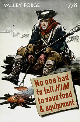 Minuteman Painting - Valley Forge Soldier - Conservation Propaganda by War Is Hell Store