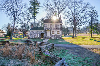 Photograph - Valley Forge - Washingtons Headquarters In Spring by Bill Cannon