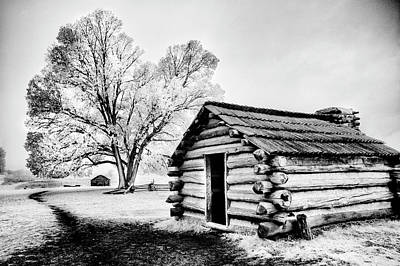 Art Print featuring the photograph Valley Forge Winter Troops Hut                           by Paul W Faust - Impressions of Light