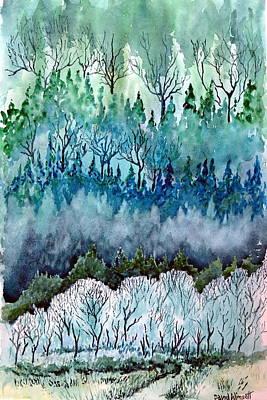 Coniferous Painting - Valley Frost by David Wimsatt