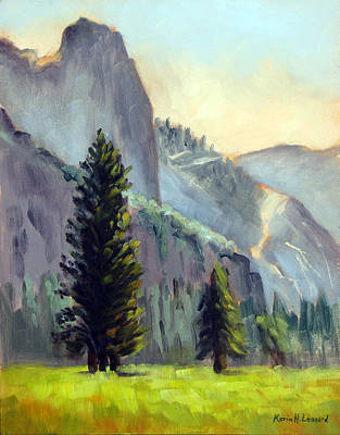 Iconic Painting - Valley Glow Yosemite Np by Karin  Leonard