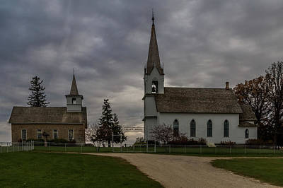 Photograph - Valley Grove - Two Churches #1 by Patti Deters