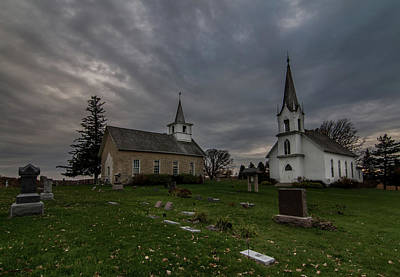 Photograph - Valley Grove - Two Churches #2 by Patti Deters