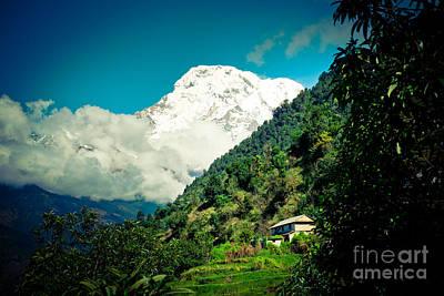 Valley Himalayas Mountain Nepal Art Print