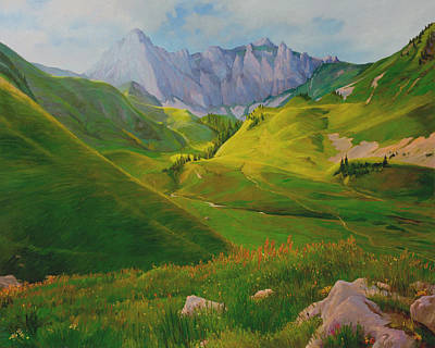 Painting - Valley In Switzerland by Judith Barath