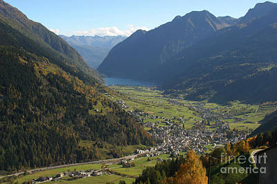 Photograph - Valley In The Alps by Stan and Anne Foster