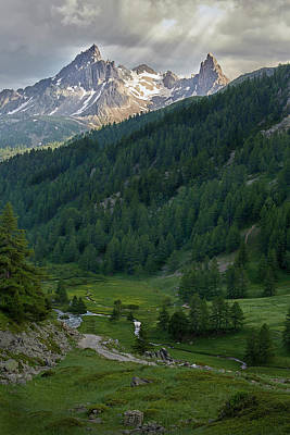 Photograph - Valley In The French Alps by Jon Glaser