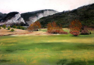 Valley Landscape Early Fall Art Print by Cindy Plutnicki