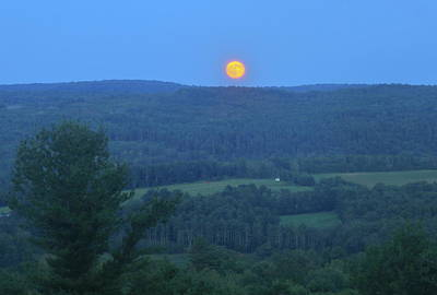 Photograph - Valley Moonrise by John Burk