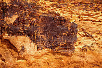 Photograph - Valley Of Fire Ancient Petroglyphs by Frank Wilson