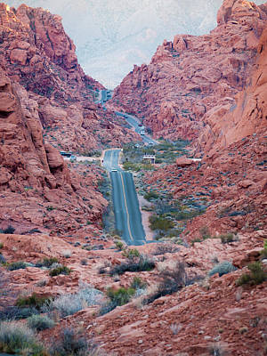 Valley Of Fire Drive Print by Rae Tucker