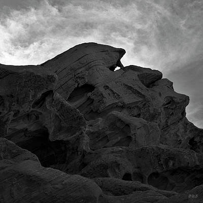 Valley Of Fire Iv Sq Bw Art Print by David Gordon