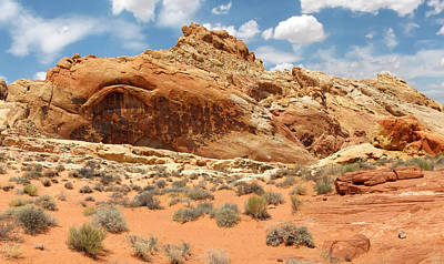 Valley Of Fire Art Print by Mary Lane