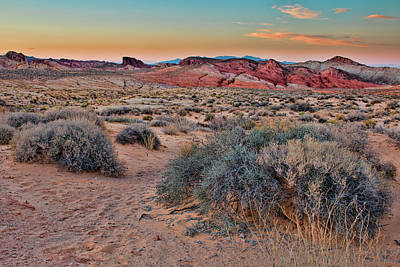 Photograph - Valley Of Fire Sunset by Kristia Adams