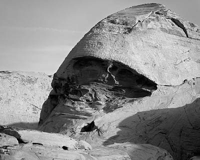 Valley Of Fire V Bw Art Print by David Gordon