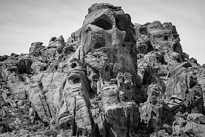 Photograph - Valley Of Fire Vii Bw by David Gordon