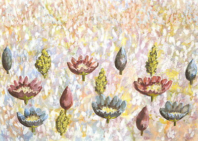 Valley Of Flowers Original by Thecla Correya