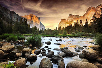 Yosemite California Photograph - Valley Of Gods by John B. Mueller Photography