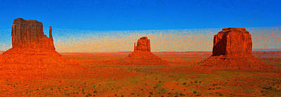 Painting - Valley Of Monuments by David Lee Thompson