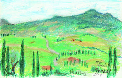 Pastel - Valley Of Orcia Near Pienza Italy by Adam Long