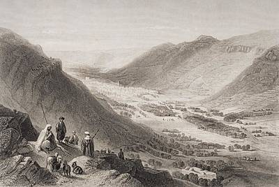 Mountain Goat Drawing - Valley Of Sichem And Nablous From Mount by Vintage Design Pics