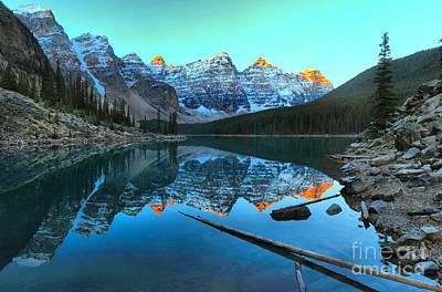 Photograph - Valley Of Ten Peaks Sunrise by Adam Jewell